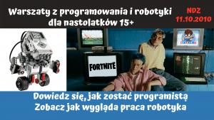 warsztaty dla nastolatków z robotyki i programowania